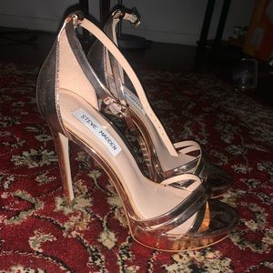 Steve Madden Cassandra Rose Gold Heels Womens 7